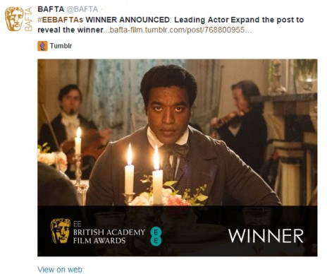 Film Awards Tweet Example - Open