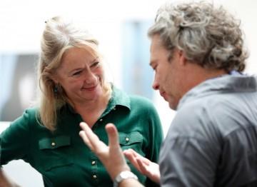 Dexter Fletcher with casting director Karen Lindsay Stewart