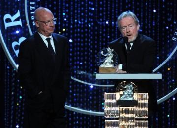 Honorees Tony Scott and Ridley Scott accept their Britannia Award