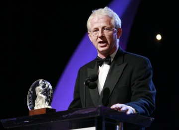 Richard Curtis, recipient of the BAFTA Los Angeles Humanitarian Award Presented by Volvo.