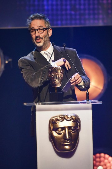 David Baddiel presents the BAFTA for Writer at the British Academy Children's Awards in 2015