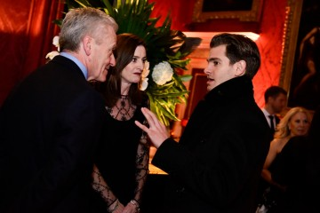 Amanda Berry and Andrew Garfield at the BAFTA Nespresso Nominees' Party at Kensington Palace