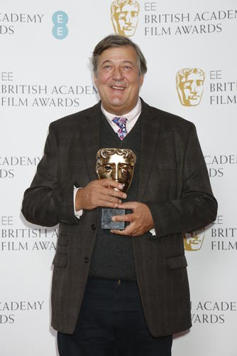 Stephen Fry at the nominations press conference for the EE British Academy Film Awards 2016