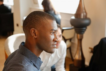 Malachi Kirby ahead of the announcement event
