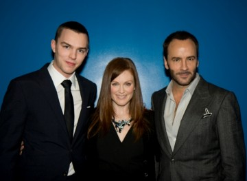 Nicholas Hoult, Julianne Moore and Director Tom Ford