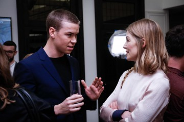 Will Poulter and Rosamund Pike.