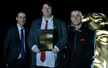 Best Writer Winners, Keith Grantham, Graham Hughes, and Graeme McGeagh