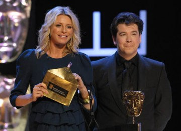 Television Presenter Tess Daly and comedian Michael McIntyre livened up the crowd at the Royal Festival Hall before presenting the Situation Comedy award (BAFTA / Marc Hoberman).