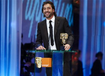 Spanish actor Javier Bardem won the Supporting Actor BAFTA for his role as killer Anton Chigurh in the Coen Brothers' No Country For Old Men (pic: BAFTA / Camera Press).