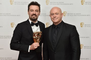 Winner of  Editing: Factual for Hillsborough, Andy Worboys and  presenter Ross Kemp