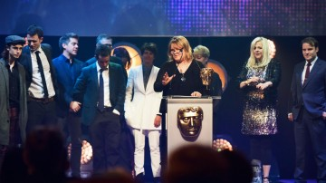 CBBC collect the BAFTA for Channel of the Year at the British Academy Children's Awards in 2015