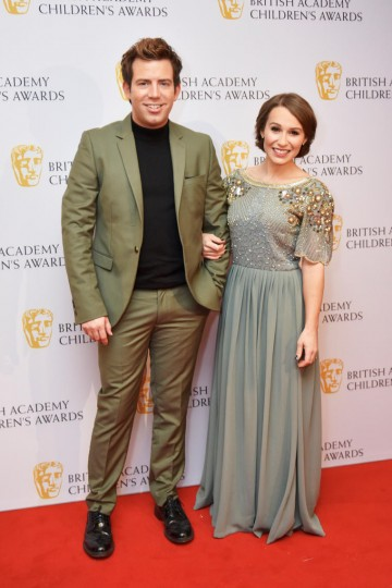 Derek Moran and Jen Pringle at the BAFTA Children's Awards 2015 at the Roundhouse on 22 November 2015