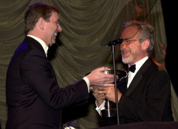 HRH Prince Andrew, Duke of York presents the Britannia Award to Steven Spielberg