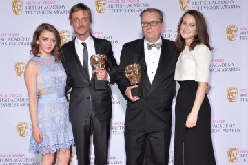 The BAFTA for Scripted Comedy in 2015 was presented by Maisie Williams and Sophie McShera to Detectorists.
