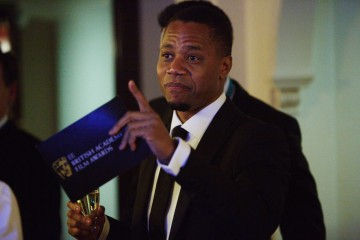 Cuba Gooding Jnr backstage in the J. King's Smoking Room at London's Royal Opera House before presenting the BAFTA for Supporting Actress.