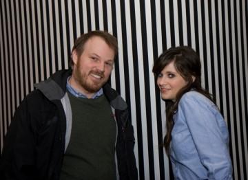 Director Marc Webb and Zooey Deschanel.