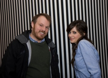 Director Marc Webb and Zooey Deschanel.