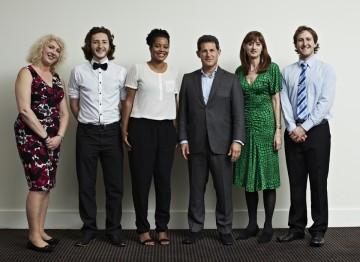 From left to right: Anne Morrison, Sam Coleman, Rienkje Attoh, Josh Berger, Amanda Berry, Sam Hughes