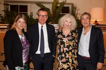 Academy Circle with Peter Morgan at Chiltern Firehouse on 24 September 2014.