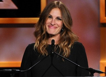 Actress Julia Roberts took to the stage to present George Clooney with his Britannia Award