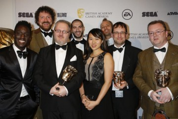 The BAFTA for Family was presented by Andy Akinwolere to the creators of Minecraft: Console Editions.