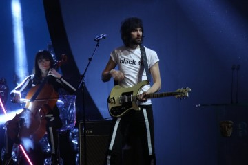 Kasabian perform to the audience
