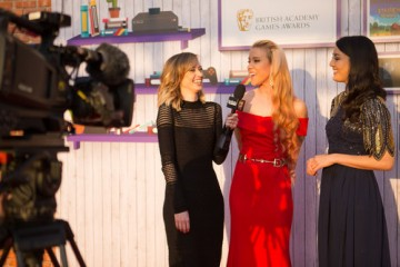 Aoife Wilson interviews Julia Hardy and Jane Douglas on the red carpet