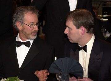 HRH Prince Andrew, Duke of York and Steven Spielberg