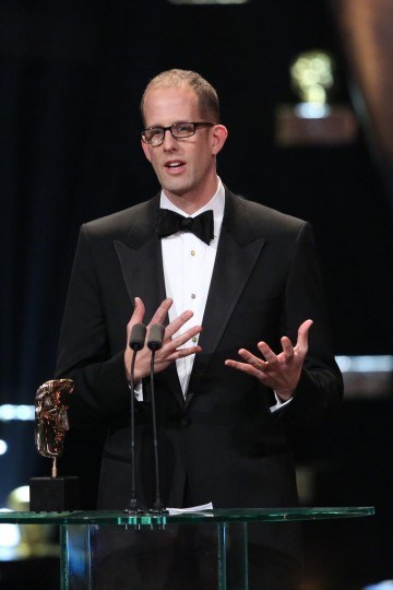 Pete Docter accepts the award for Animation at the 2016 EE British Academy Film Awards