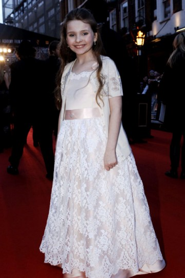 Nominated for her role in Little Miss Sunshine, Abigail Breslin arrives on the red carpet. (pic: BAFTA/Richard Kendal)