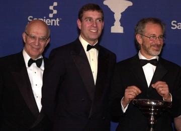 Arnold Schwartzman, HRH Prince Andrew, Duke of York and Steven Spielberg.