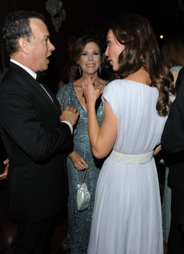The Duchess of Cambridge meets Tom Hanks and his wife Rita Wilson.