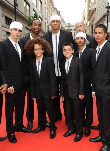 Dance group Diversity arrive on the red carpet ready to perform live at tonight's ceremony (BAFTA/Richard Kendal).