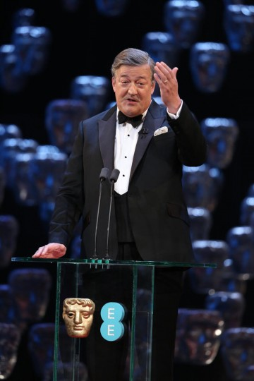 Stephen Fry welcomes guests at the Royal Opera House