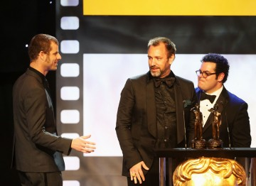 Matt Stone, Trey Parker and Josh Gad at the Britannia Awards.