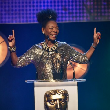Floella Benjamin presents the BAFTA for Pre-School Live Action at the British Academy Children's Awards in 2015