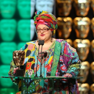 Camila Batmanghelidjh presents the award for Single Documentary