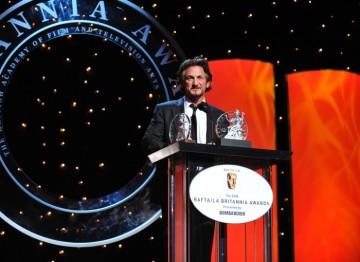 Sean Penn, recipient of the Stanley Kubrick Britannia Award for Excellence in Film