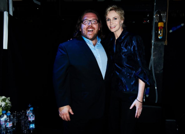 Nick Frost and Jane Lynch at the 2010 BAFTA Television Awards.
