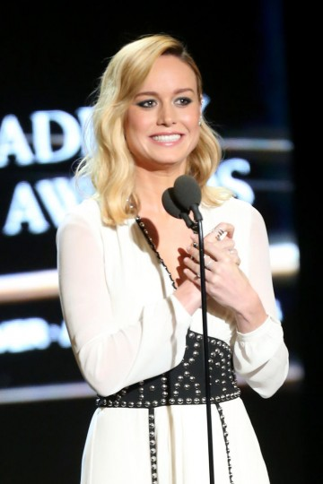 Brie Larson introduces honoree Samuel L. Jackson who received the Albert R. Broccoli Britannia Award for Worldwide Contribution to Entertainment