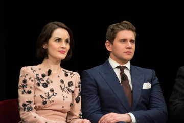 Cast members Michelle Dockery and Allen Leech pictured at a Sneak Preview and Q&A event in New York.
