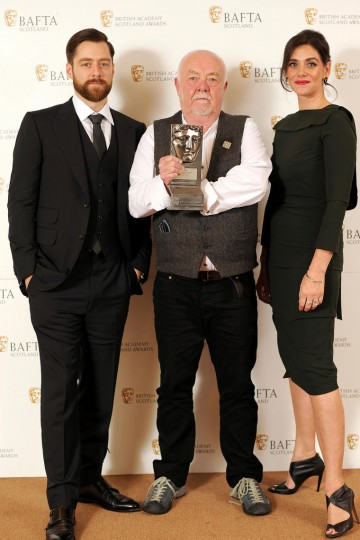 Richard Rankin, Donald Coutts and Neve McIntosh