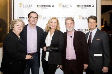 BAFTA New York CEO Christina Thomas, Steven Segaller, Kim Cattrall, Richard Denton and WNET's Neal Shapiro.