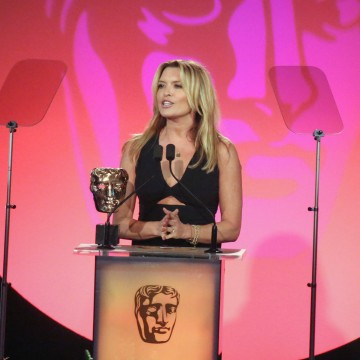 Tina Hobley presents the award for Production Design at the British Academy Television Craft Awards in 2015