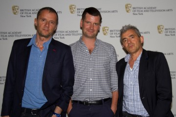 John Battsek, BAFTA's Luke Parker Bowles and Daniel Battsek