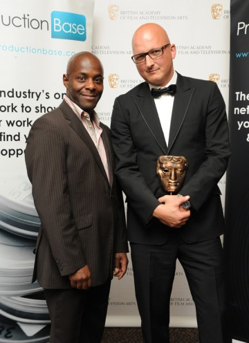 BAFTA-winning director Dan Reed with presenter Paterson Joseph. (Pic: BAFTA/Chris Sharp)