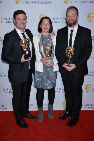 The Amazing World of Gumball wins the Animation category at the British Academy Children's Awards in 2015, presented by Denise Van Outen.