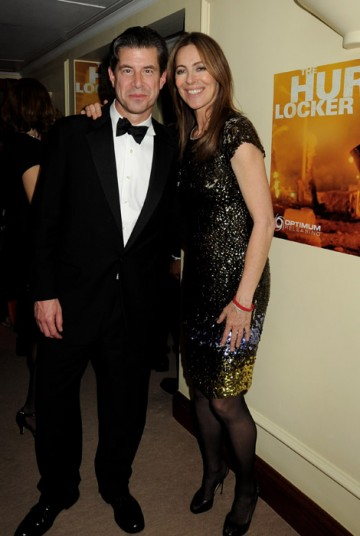 Kathryn Bigelow and guest at the Official Soho House and Grey Goose party for the Orange British Academy Film Awards.