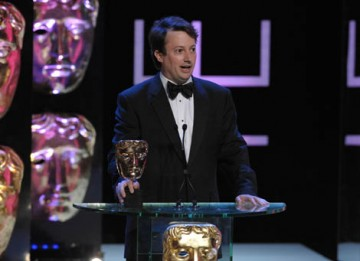 David Mitchell collected the Comedy Performance BAFTA by paying tribute to his comedy partner Robert Webb (BAFTA / Marc Hoberman).