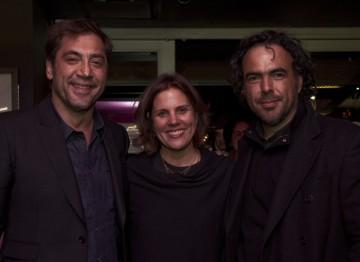 Director Alejandro González Iñárritu and Javier Bardem